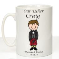 Personalised Mug for Usher: Scottish