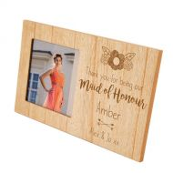 Maid of Honour Engraved Frame