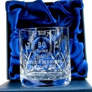 Engraved 30th Birthday Whisky Glass