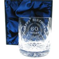 60th Birthday Whisky Glass: Engraved