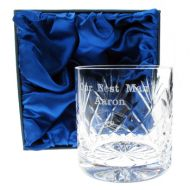 Engraved Best Man Whisky Glass
