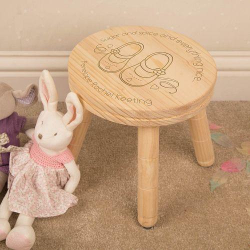 Little Girls Wooden Stool