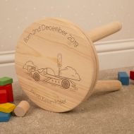 Racing Car Customised Wooden Stool