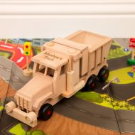 Engraved Wooden Sand Tipping Truck