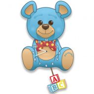 Blue Teddy Bear Wall Clock for a Boy