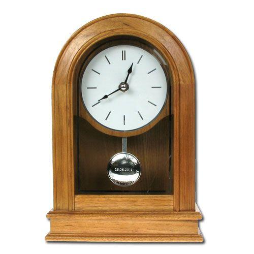 Personalised Retirement Oak Clock