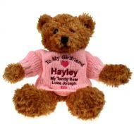 Personalised Brown Teddy Bear: Girlfriend