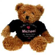 Personalised Brown Teddy Bear: Boyfriend
