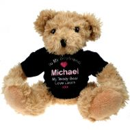 Personalised Light Brown Teddy Bear: Boyfriend