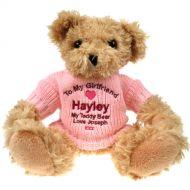 Personalised Light Brown Teddy Bear: Girlfriend