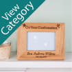 Personalised Engraved Confirmation Photo Frames.