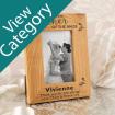 Laser Engraved Oak Wedding Photo Frames