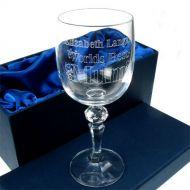 Engraved Wine Glass: Worlds Best Mum