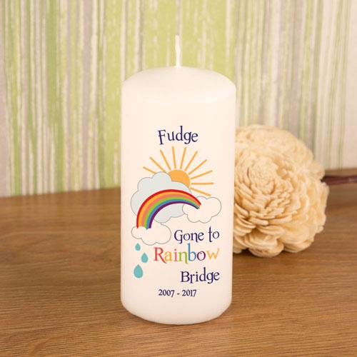 Rainbow Bridge Pet Memorial Candle