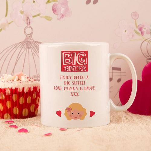 Personalised Big Sister Mug