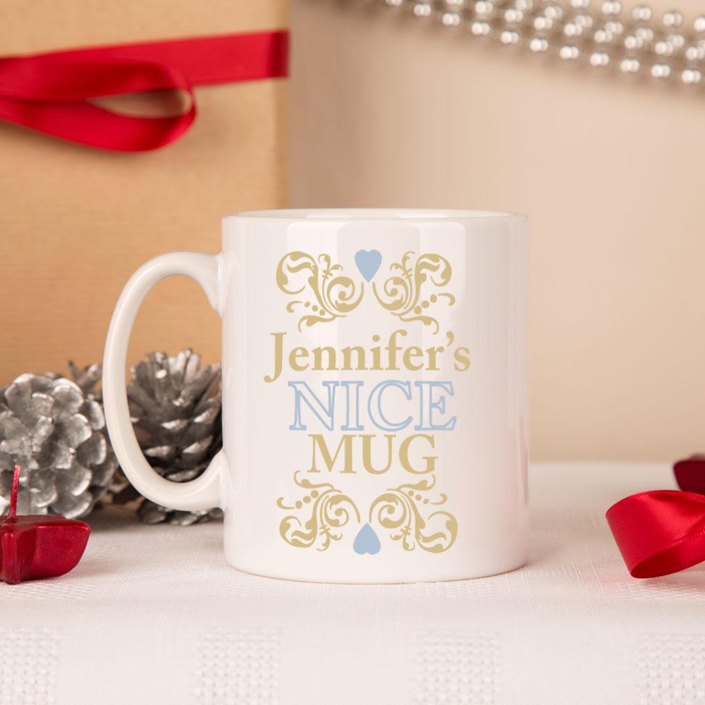 Personalised Naughty Amp Nice Christmas Mug