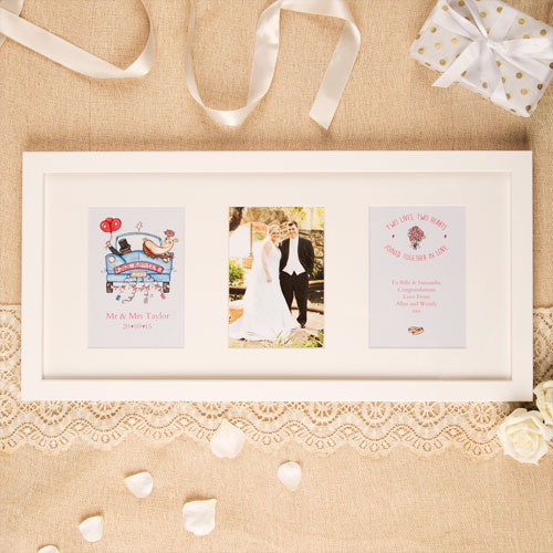 Traditional Wedding Gift From Groom To Bride: Premium Illustrated Wedding Frame